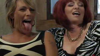 Two hot milf sluts get together one evening to watch a fun porn video.  Somehow things start getting hot between them as they watch the video....