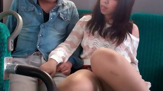 Astonishing Japanese teen with big natural boobies and pretty face Chinatsu Kurusu seduces one lucky stranger at the back seat in public bus. Busty ho