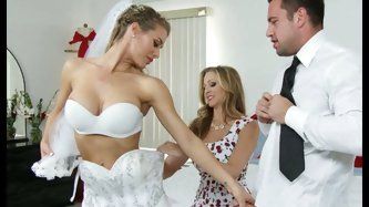 Hot like hell sexy sweeties Julia Ann and Nicole Aniston enjoyed incredibly hot marriage threesome.Those busty hotties gave steamy deep throat to kink