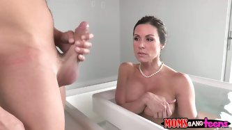 Reality Kings sex clip will make your tool jizz in a flash. Bitchie brunette with huge boobs is in the hot bath. She rubs her pussy passionately and d